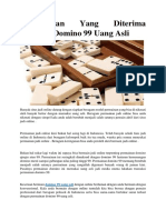 Keuntungan Yang Diterima Bermain Domino 99 Uang Asli