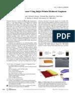 All-Organic Vapor Sensor Using Inkjet-Printed Reduced GrapheneOxide