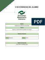 Portafolio de Evidencias Alumno 3101- 2018