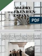 Luis Benshimol - Gallery Weekend en España