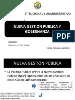 Nueva Gestion Publica y Gobernanza