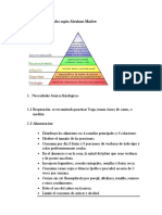 Pirámide de Necesidades Según Abraham Maslow