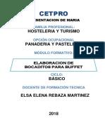 PROGRAMACION PANADERIA 2018