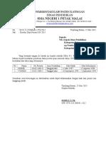 Surat Salah Data