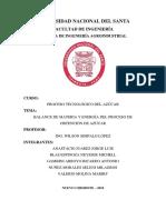 Informe Proceso de Obtención de Azúcar