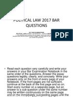 Political Law 2017 Bar Questions