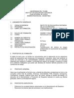 ADMINISTRACIÓN DE DESASTRES