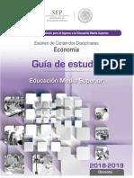 Guia de Estudio para el Examen de Contenidos Disciplinares en Economía