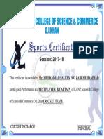 Telecom Sports Certification