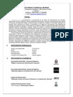 Formato Curriculum Vitae
