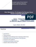 New Simulation Techniques for Energy Aware Cloud Computing Systems