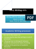 Writing for Academic Purpose March 2 2018