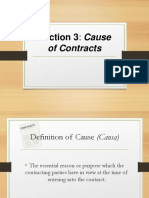 Cause of Contracts