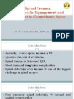S1.2 Spinal Trauma, Orthopaedic Management - Dr Ahmad Ramdan