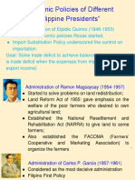 Economic Policies of Different Philippine Presidents