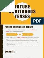 Future Continuous Tenses