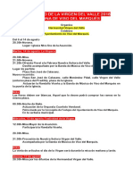 Programa Virgen Del Valle 2018