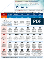 Andhrapradesh Telugu Calendar 2018 May