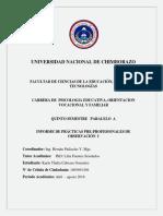 Formato de Infome de Prácticas Febrero 2018