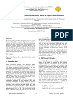 Evaluation of a New Power Quality Index, Based in Higher Order Statistics