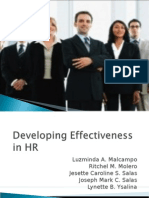 Developing Effectiveness in HR