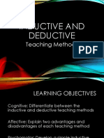 Inductive - Deductive Teaching Methods
