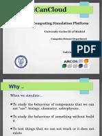 iCanCloud Simulation platform.odp