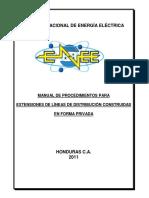 Manual de Procedimientos Para La Extension de Lineas de Distribucion construidas de forma privada.pdf