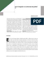 CORREA, M. D. C. Rafael Braga Vieira. O Singular e Os Universais Da Polícia (DILEMAS, IfCS-UFRJ, 2018, p. 212-234)