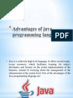 Advantages of Java Programming Language