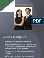 Interview Preparation for Website