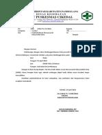 Undangan MMD Dan Lokmin Lintas Sektor PKM Cikedal
