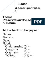 Nature Slogan Guidelines