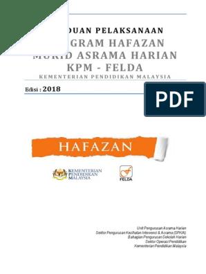 6 Panduan Program Hafazan Kpm Felda 2018 Pdf
