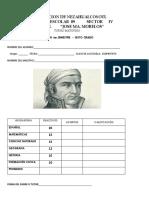 Examen Diagnostico Para Sexto Grado de Primaria