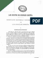 Los Restos de Hernan Cortes
