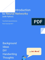A Gentle Introduction to Neural Networks With Python