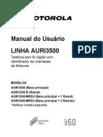 Manual Fone Sem Fio Motorola