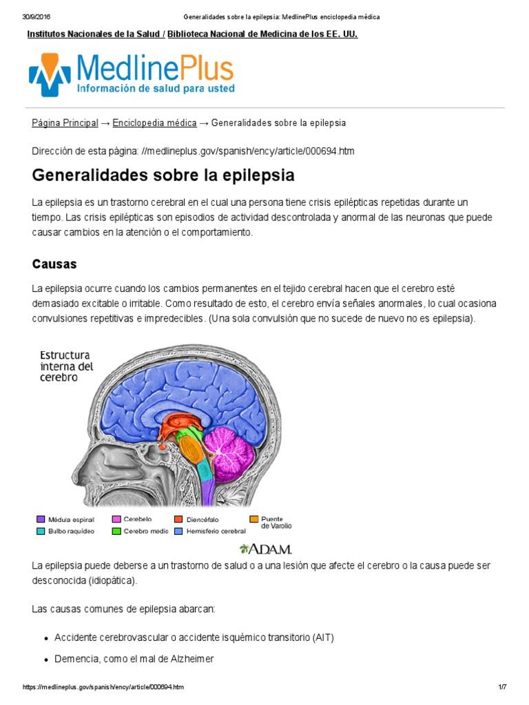 b80ebc807841 Epilepsia (MedlinePlus) | Epilepsia | Medicina