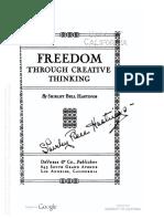 Freedom Through Creative Thinking_Part1