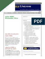 Valor RMS Promedio Pico - Electrónica Unicrom