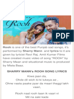 Rooh Lyrics - Sharry Mann | Latest Songs