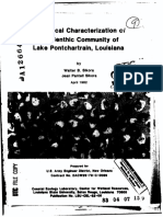 Benthic Community Lake Pontchartrain Louisiana Sikora 1982