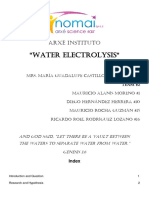 The Electrolysis of Water - Junior High Science Fair Abstract