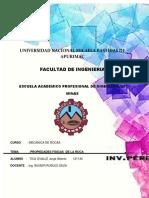 Propiedades Fisicas Informe Mecanica de Rocas