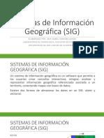 Presentación SIG