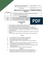 Syllabus Practical Kargil 5thSemester DAA CSP-308
