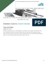 Distillation Column_ Column Internals, Bubble Cap Trays, Valve Trays, Sieve Trays, Structured Packing