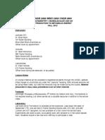 CHEM 2360 Biochemistry 1 Syllabus