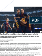 Facebook buys rights to show La Liga games in India | Technology | The Guardian